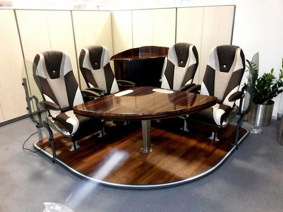 Mercedes VIP Bus Table and Cabinet
